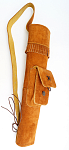 Колчан заспинный BUCK TRAIL QUIVERS SMALL INDIAN AMBIDEXTROUS BUCKSKIN