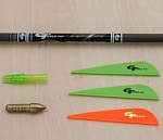 Набор GOLD TIP LIGHTNING YOUTH ARROW KIT (UNASSEMBLED, DOES NOT INCL. GLUE)